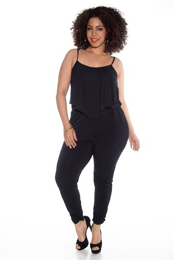 Beat Generation Plus Size Jumpsuit - Black from Janette Plus at Lucky 21