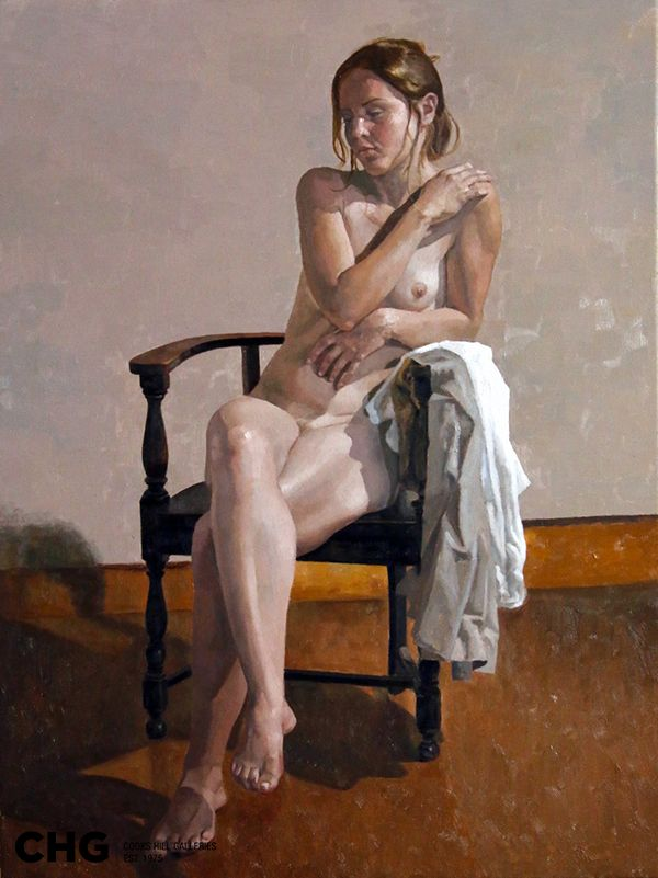 'Between Poses' | Bruce Rowland is a #CHG #painter focused on the figurative - nude and semi nude, still life and interiors. Browse and buy #art: http://goo.gl/Uv6Nev #australianart