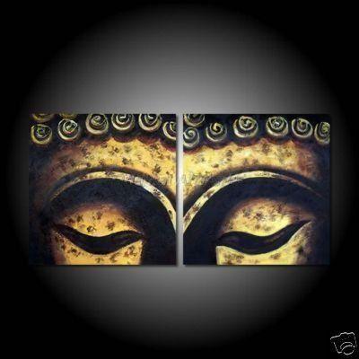Огромные абстрактные картины маслом картина маслом ручной работы 100% бесплатная доставка современной абстрактной холсте BUDDHA глаза и лицо 30 x 40 ''