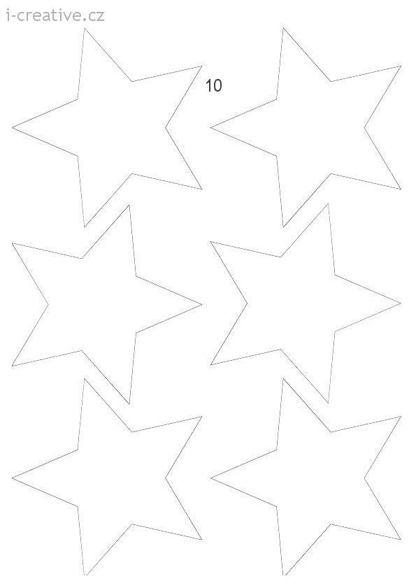 vystřihovánky hvězdy