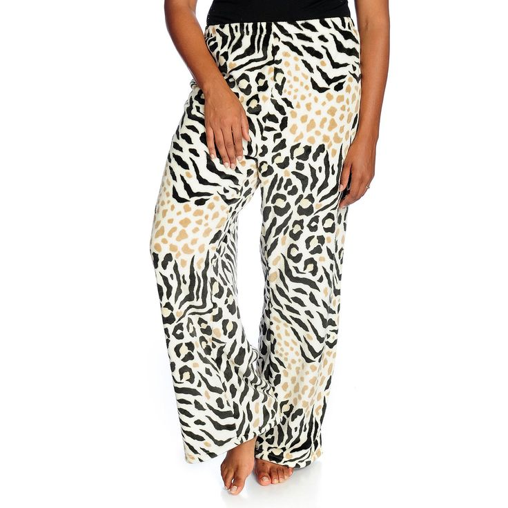 447-190 - Cozelle® Soft & Comfy Microplush Elastic Waist Wide Leg Pants