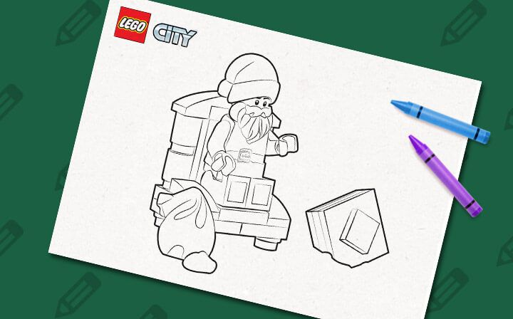 60099 Advent Calendar Santa LEGO Coloring Sheet