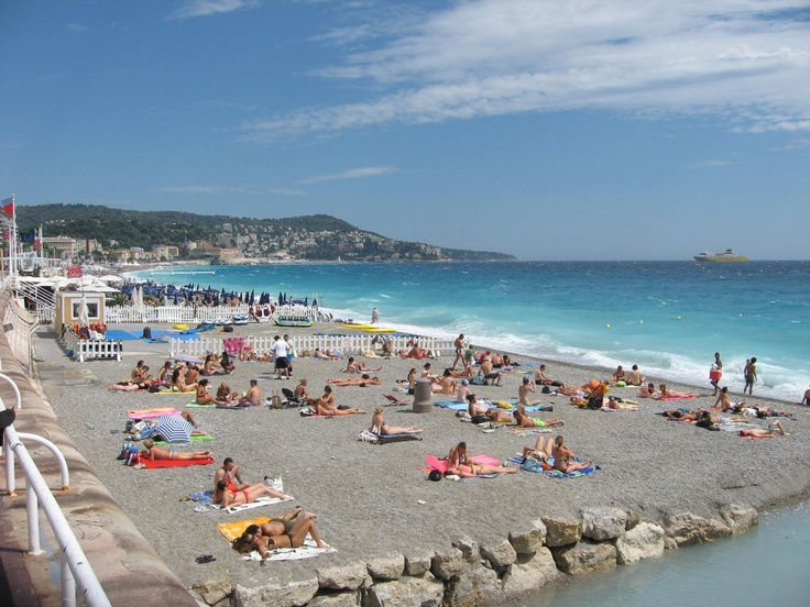 Beach In Nice France Places I Have Been Pinterest