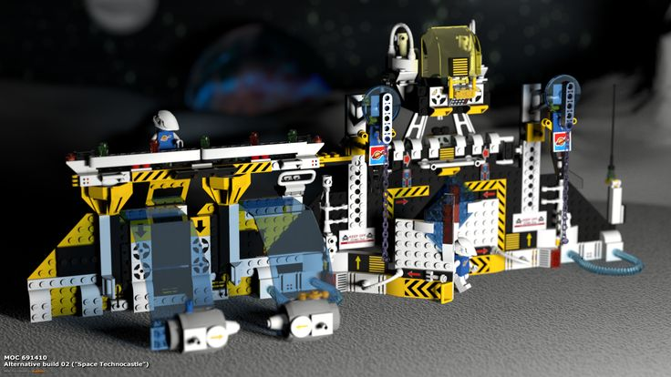 "MOC 691410 Alternative Build 02 (""Space Technocastle""), see more at http://lego.queryen.com/php/691410.php"