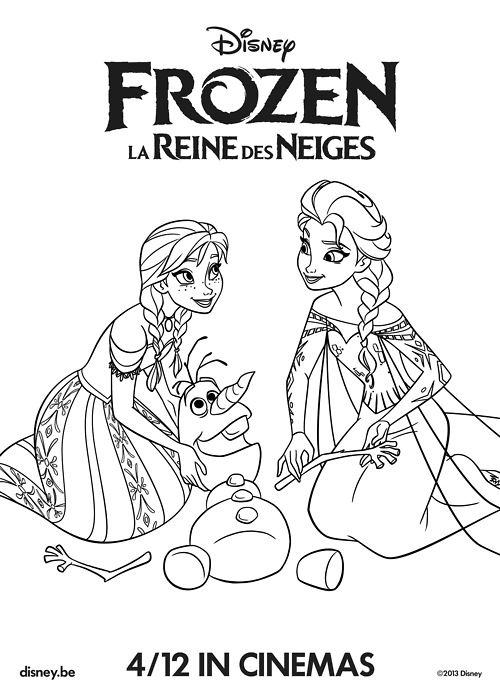 Frozen Character Anna Princess Coloring Page Printable Wallpaper HD