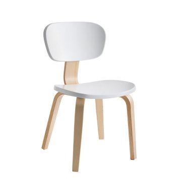 Psylo Chair White and Natural Ash