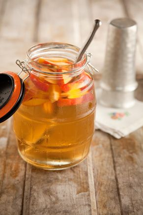 Paula Deen Cousin Johnnie's White Sangria with Peaches - I think this will be delicious around the pool.