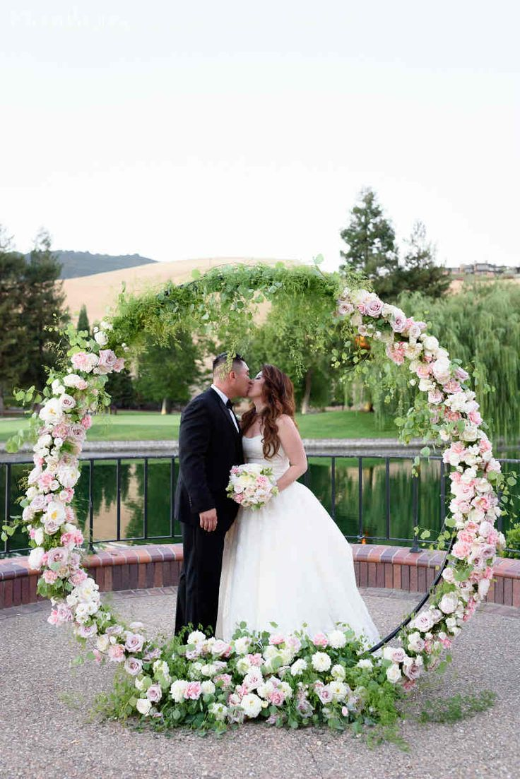 Modern Pink Wedding With Floral Inspiration Floral Arch