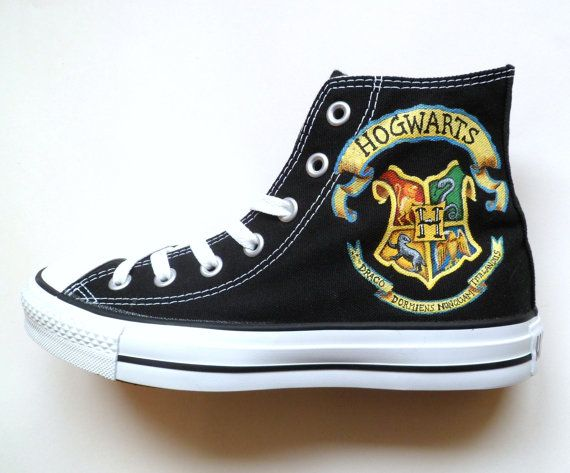 I want these for my birthday!!!!!! Harry Potter inspired Converse by emmivisser on Etsy, $119.95