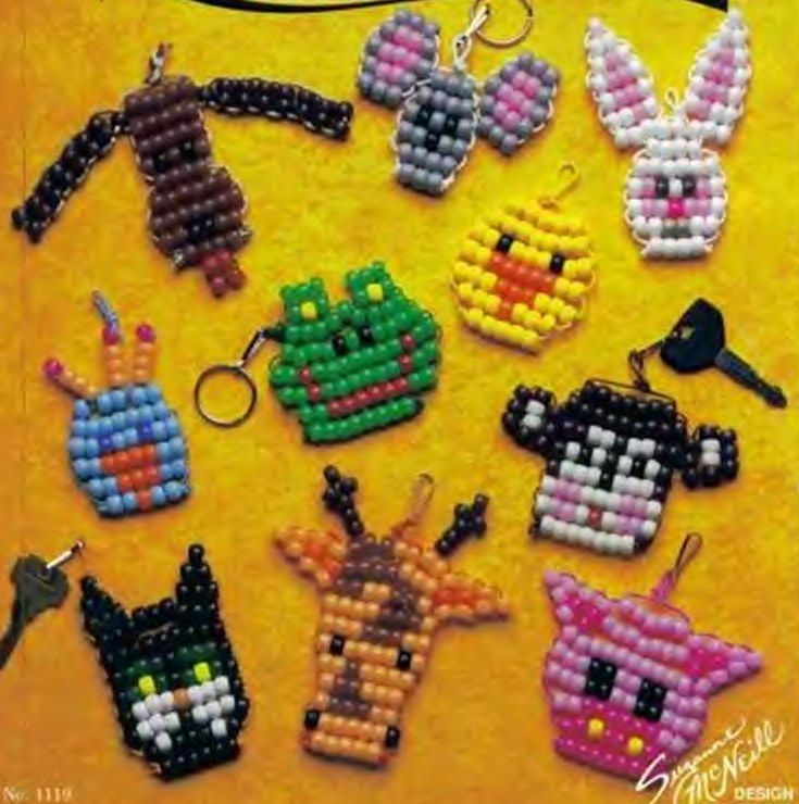 Pony beads keychains                                                                                                                                                                                 More