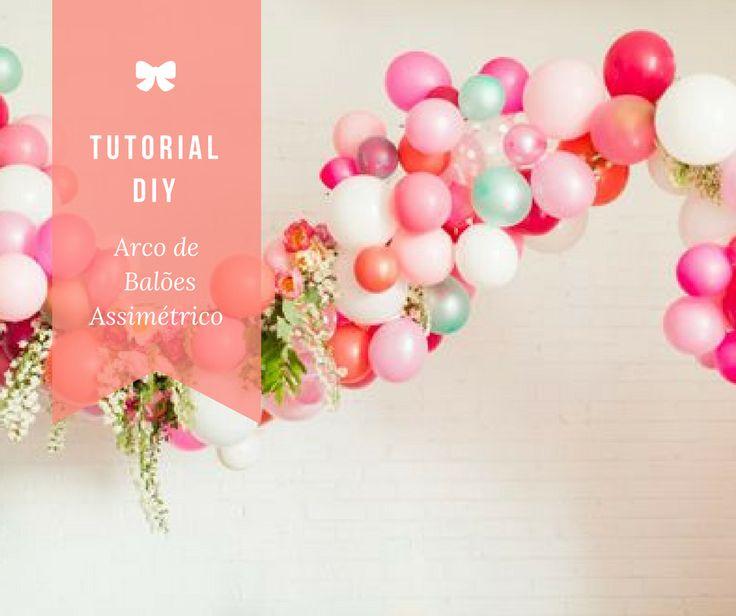 Aprenda a fazerArco lindo com balões de diferentes tamanhos, com flores e folhas…