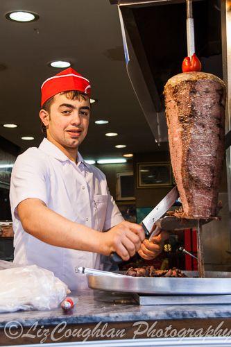 Kebab cook in Eminonu, Istanbul, Turkey