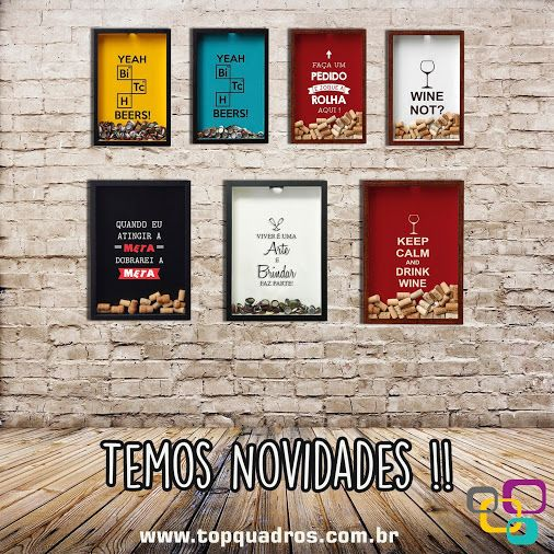 Temos Novidades !! Mais sete modelos lindos de Quadros Porta-Rolha e Porta-Tampinha para vocês !! Vem conferir o post que fiz no nosso blog falando um pouquinho sobre cada peça: http://bit.ly/1jbzAJE  #quadro #parede #decoração #quadros #decorativo #quadrodeparede #topquadros #lojaonline #decoraçãodeparede #naparede #decor #quadrosdedecoração #novidades #portarolha #tampinhas #modelos #diferentes