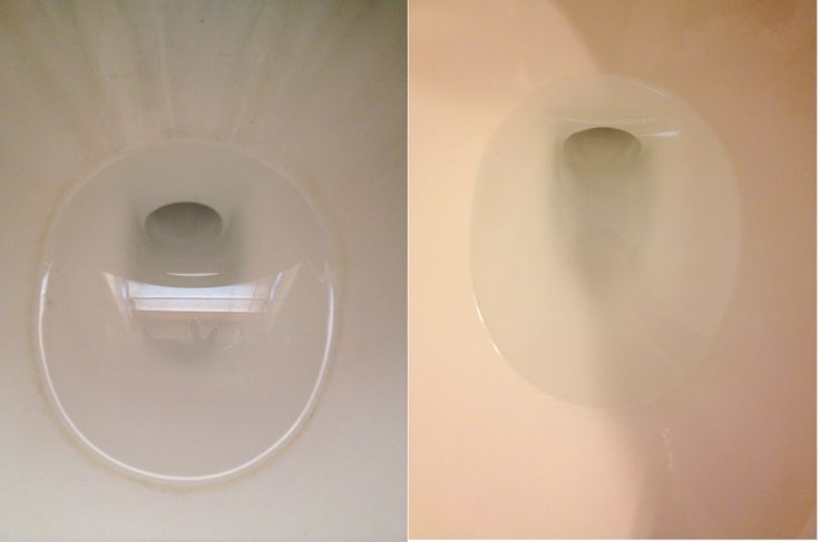 Get rid of the hard water ring around your toilet bowl!  Use 2 cups of vinegar and sprinkle 2 tablespoons of baking soda and watch the stains start to sizzle away