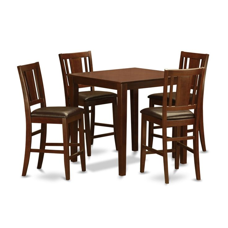 Mahogany Counter Height Table And 4 Stools 5piece Dining Set