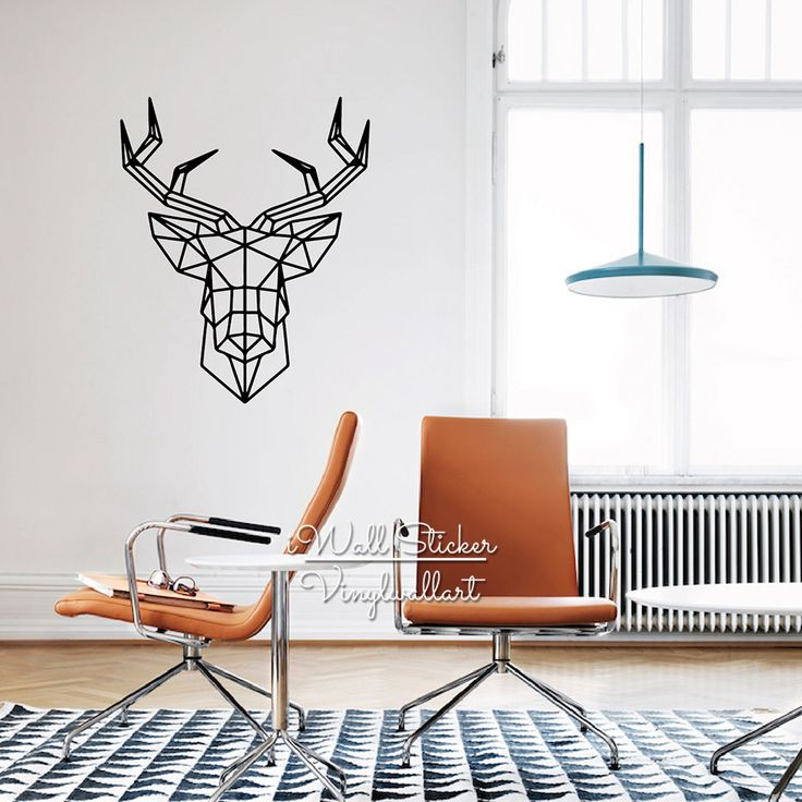Aliexpress.com : Buy Geometric Deer Wall Sticker Modern Geometric Deer Wall Decals DIY Easy Wall Art Removable Wall Decoration Cut Vinyl M13 from Reliable vinyl home decor suppliers on iWall Sticker