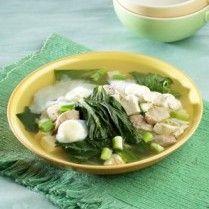 SUP SAWI TAHU TELUR http://www.sajiansedap.com/mobile/detail/18779/sup-sawi-tahu-telur