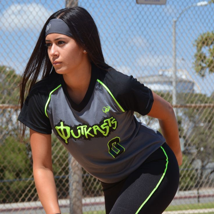 Elegance Rox Jersey #drifit #softball #travelball #custom #uniforms #girls #athlete #charcoal #jersey #headband #workout #apparel #bodywear #womem
