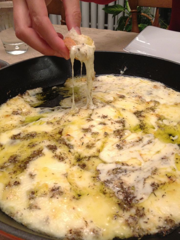 Baked #Cheese Fondue made with Italian Fondue Cheese.  Makes a great appetizer at a party!