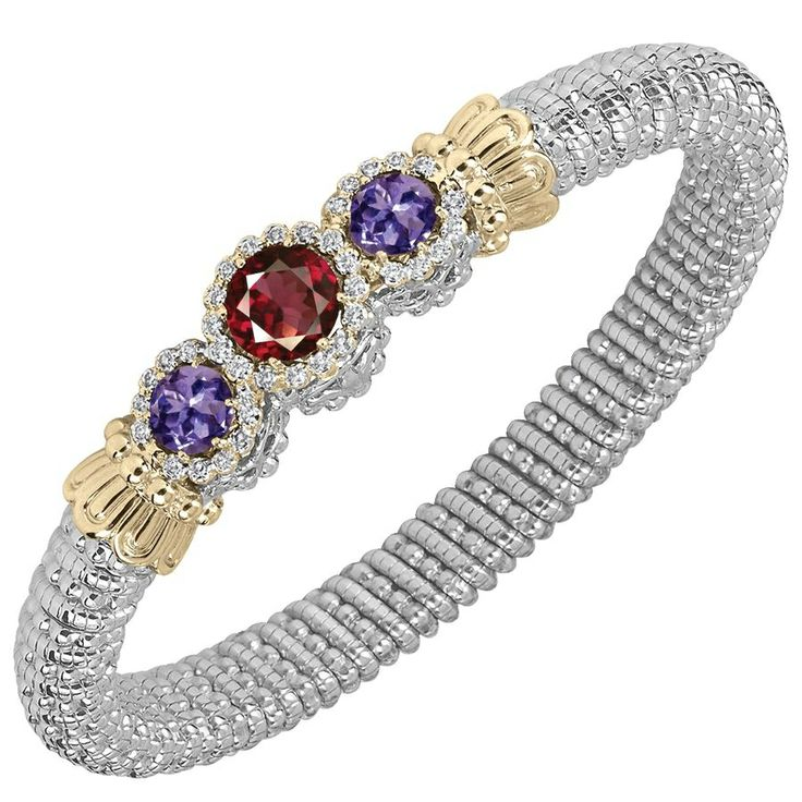 Colored gemstone bracelet - wow!