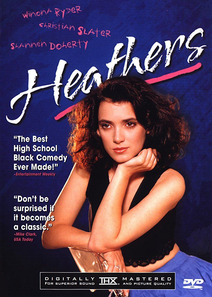 Directed by Michael Lehmann.  With Winona Ryder, Christian Slater, Shannen Doherty, Lisanne Falk. In order to get out of the snobby clique that is destroying her good-girl reputation, an intelligent teen teams up with a dark sociopath in a plot to kill the cool kids.