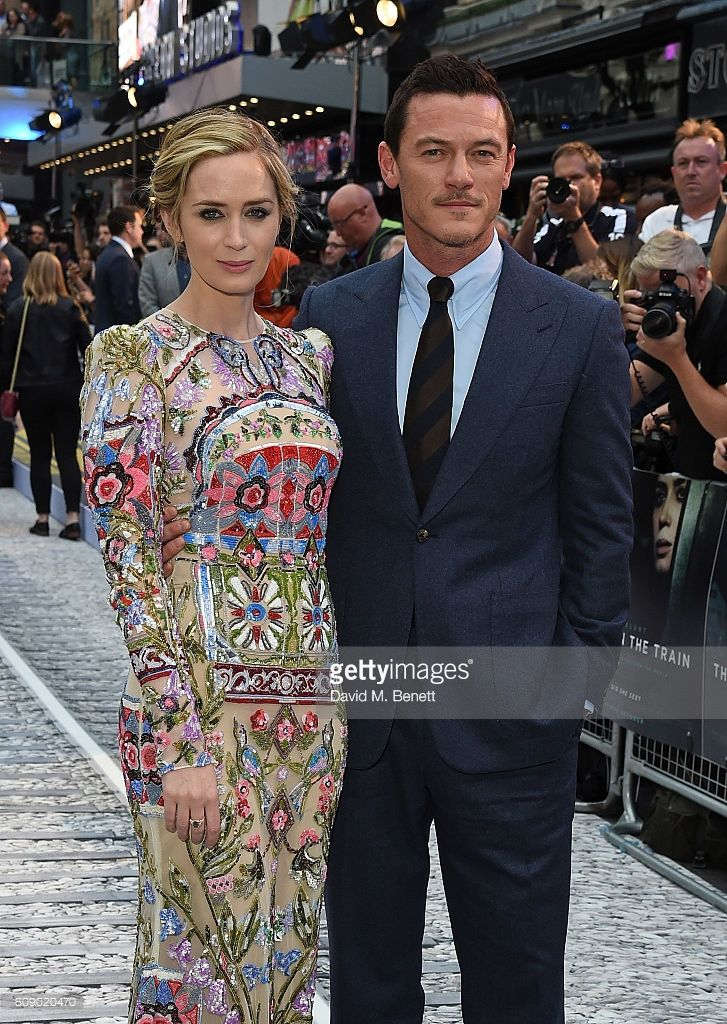 Emily Bunt and Luke Evans attend the World Premiere of 'The Girl On The Train'…