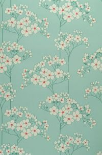 AH! Mint green with cream and red... TINY BITS OF RED! Love.