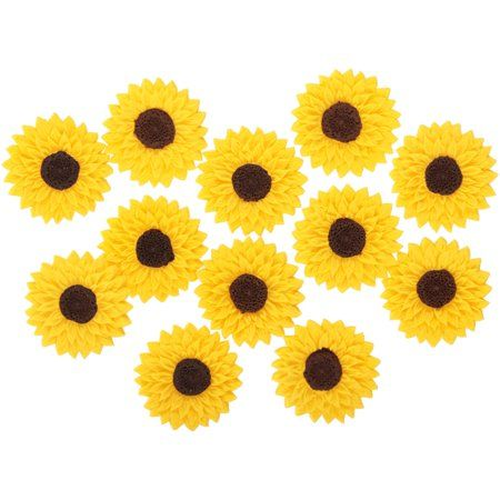 Wilton Sunflower Icing Decorations, 0.6 oz - Walmart.com ...