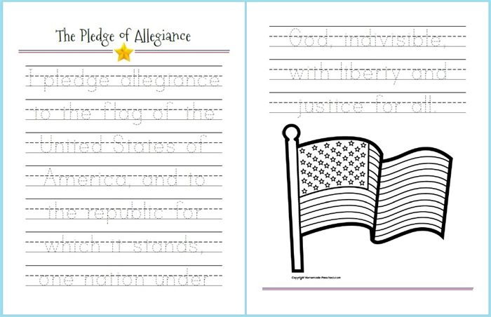 3 Simple Tracing Worksheets For Presidents 39 Day