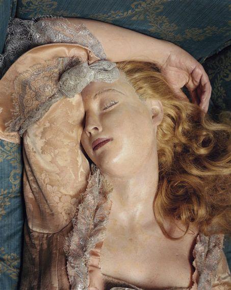 Madame du Barry's likeness as Madame Tussaud's Sleeping Beauty