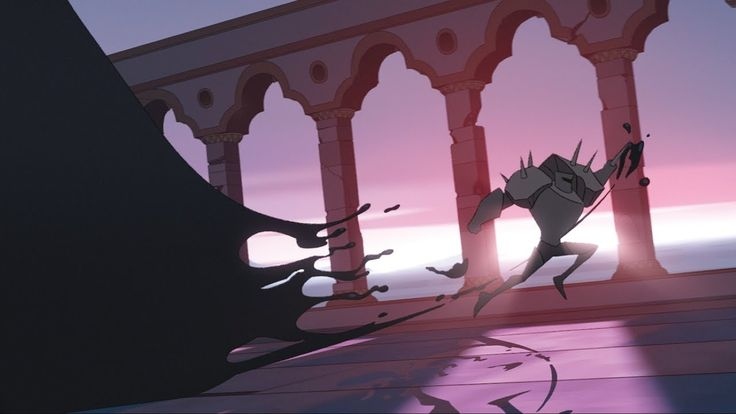 Con esta estética y animación, nos presentan su cortometraje de animación 2d