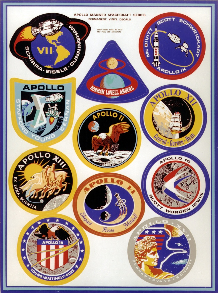 Montage of manned Apollo 7 through 17 Missions Crew ...
