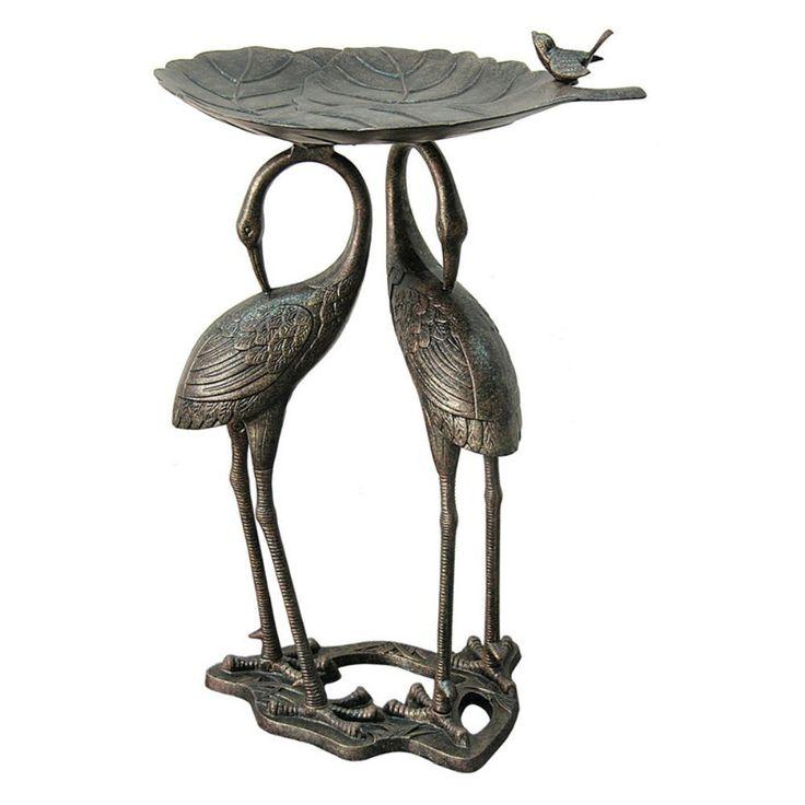 Innova Double Heron Lily Pad Bird Bath - Bird Baths at Hayneedle