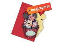 Inviti di compleanno con busta Minnie Cafè 6 pezzi