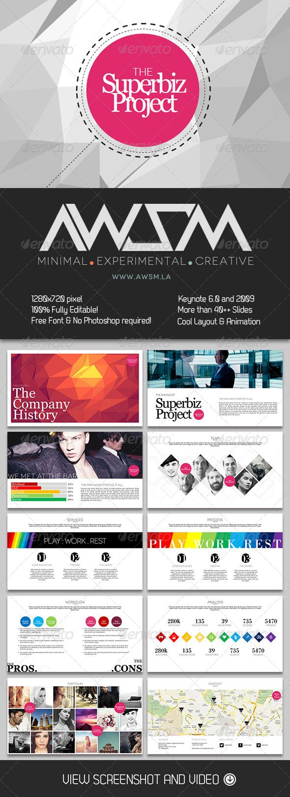 62 best ppt template images on pinterest ppt template the superbiz powerpoint presentation template by awsm is a highly visual layout with lots of white space for readability toneelgroepblik Image collections