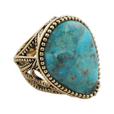 Art Smith by BARSE Turquoise Statement Ring - jcpenney