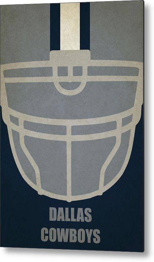 Cowboys Metal Print featuring the painting Dallas Cowboys Helmet Art by Joe Hamilton