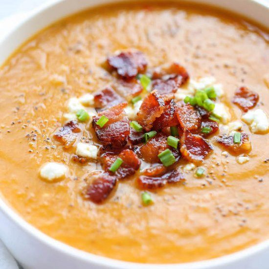 The absolute best butternut squash soup ever with a secret ingredient!