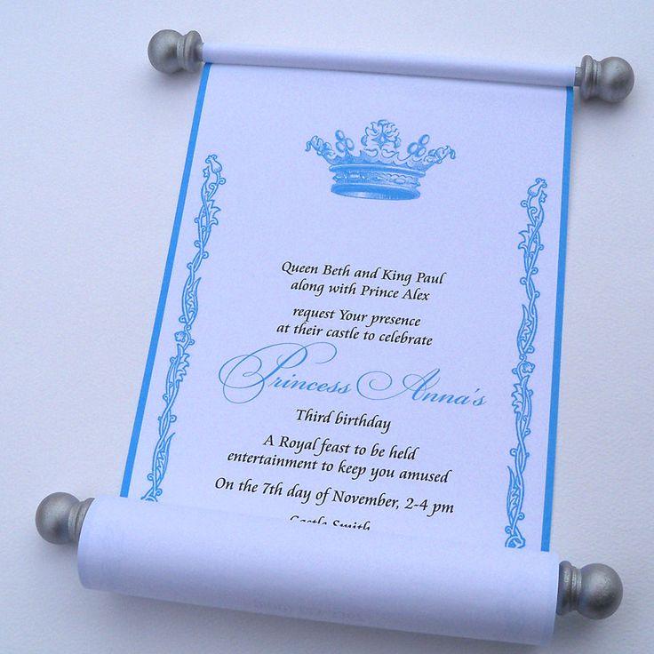 Best 25 Scroll invitation ideas – Party Invitation Paper