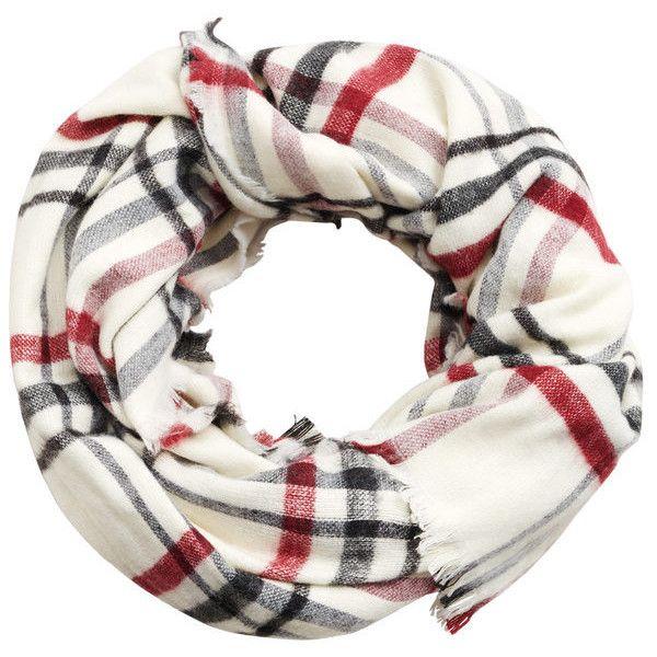 MANGO Plaid scarf (2.280 RUB) ❤ liked on Polyvore featuring accessories, scarves, ecru, plaid shawl, tartan plaid shawl, tartan plaid scarves, tartan shawl and tartan scarves