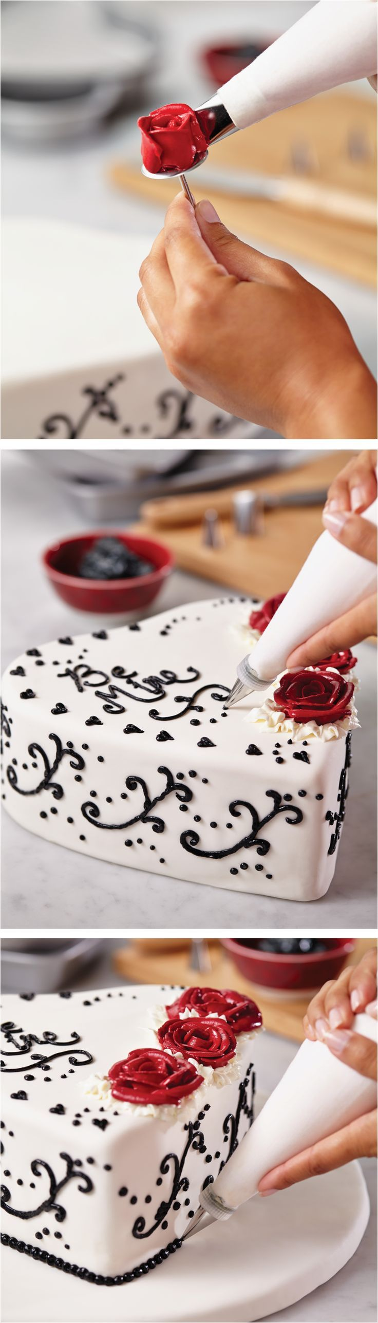 Click on the image to get cake decorating with the Cake Boss 10-Piece Heart Bakeware Set.
