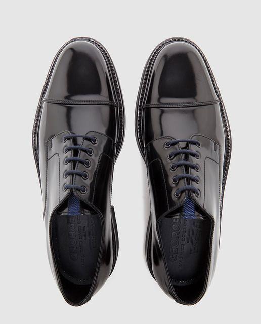 Zapatos de cordones de hombre negros
