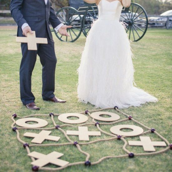 Keep your guests 100% entertained with these 9 fun game ideas for your reception! Photo via I Heart Weddings.