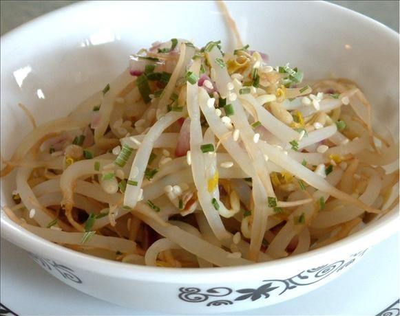 Korean Bean Sprouts. Photo by Bebou...finally something good to do with leftover bean sprouts!