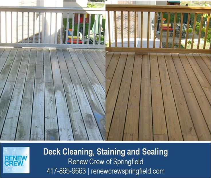 http://renewcrewspringfield.com/deck-cleaning-staining-sealing/ – The uneven colors and surfaces of this elevated deck are uniform and vibrant after Renew Crew of Springfield's proprietary deck cleaning and staining process. We serve Springfield MO plus Greene, Christian, Webster, Polk and Dallas Counties. Free estimates.