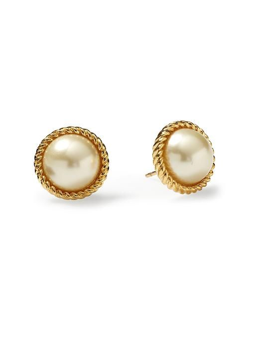 Kate Spade pearl stud earrings