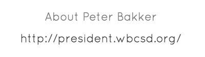 About Peter Bakker - The President's Blog