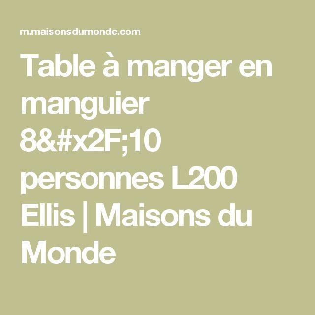 Table à manger en manguier 8/10 personnes L200 Ellis | Maisons du Monde