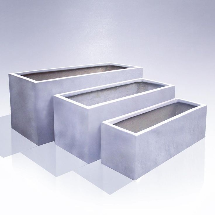 """Rectangle GFRC Planters #concrete #lightweightconcrete #grc #gfrc #planters #gardendesign #grcsupplier #grcexporter"" #gdrasia"