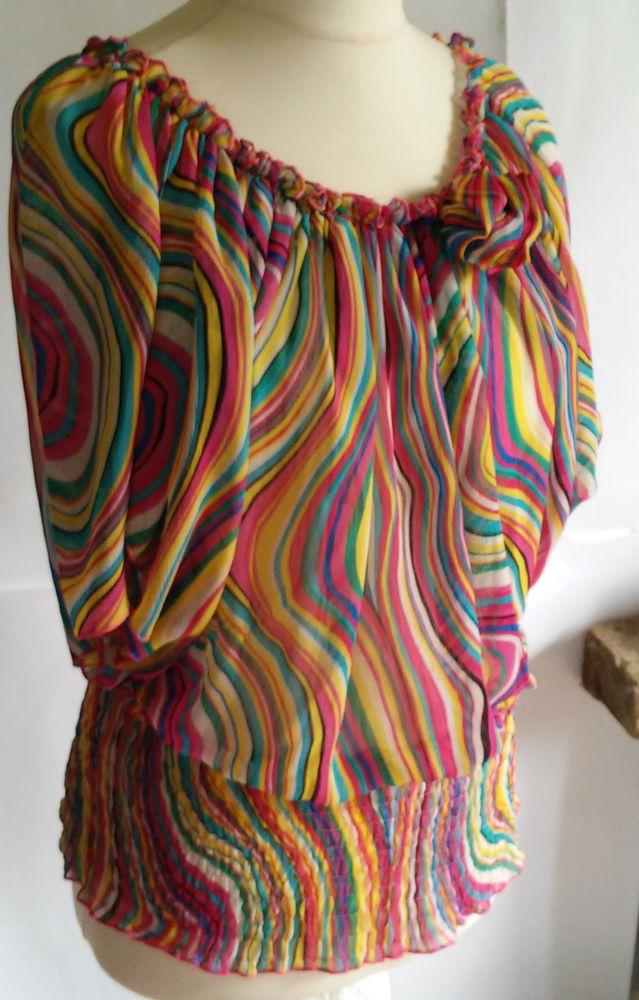 Nowhy  beautiful chiffon blouse size L \M